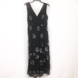 3/$25 Paradise NY floral beach black dress